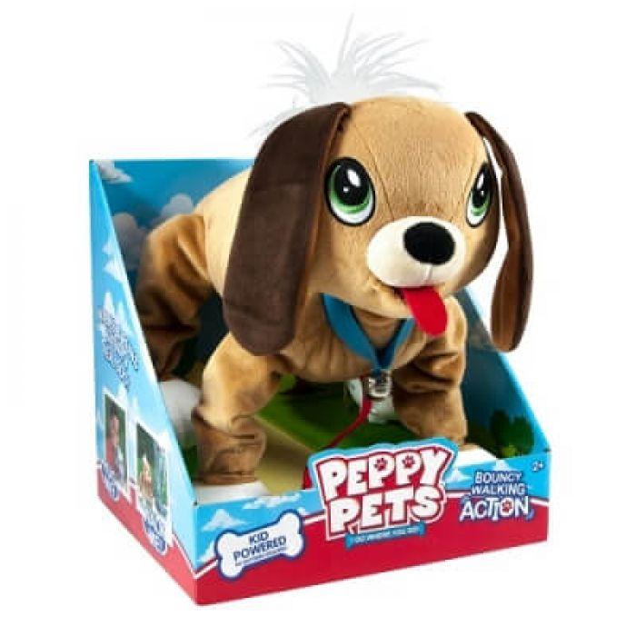 """Игрушка PEPPY PETS """"ВЕСЕЛАЯ ПРОГУЛКА"""" - БАССЕТ (размер 28 см, ошейник, поводок)"""
