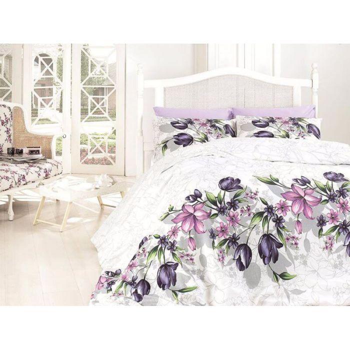"""Комплект постельного белья ТМ """"FIRST CHOICE"""" de luxe riella lila"""