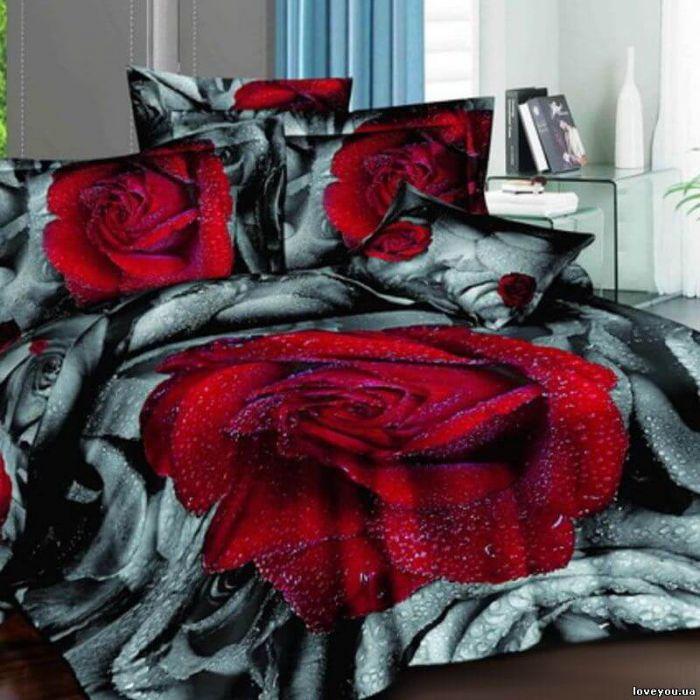 """Комплект постельного белья ТМ """"LOVE YOU"""" дикая роза"""