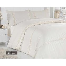 """Комплект постельного белья ТМ """"ALTINBASAK"""" lace cream"""