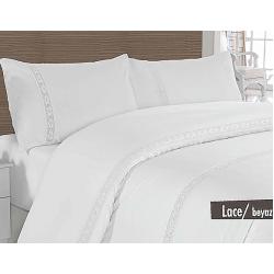 """Комплект постельного белья ТМ """"ALTINBASAK"""" lace beyaz"""