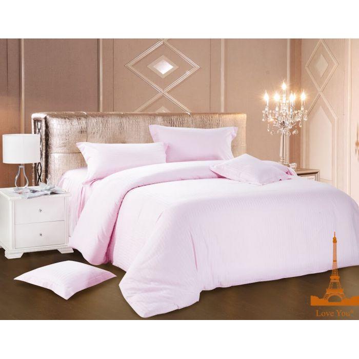 """Комплект постельного белья ТМ """"LOVE YOU"""" светло-розовый"""