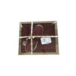 Мужской комплект для бани Purry (юбка, полотенце 50*90, тапочки) бордовый (ts-02389)