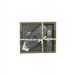 Мужской комплект для бани Purry (юбка, полотенце 50*90, тапочки) хаки (ts-02393)