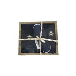 Мужской комплект для бани Purry (юбка, полотенце 50*90, тапочки) синий (ts-02394)