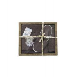 Женский комплект для бани Purry (юбка, капюшон, тапочки) Sauna розовый (ts-02397)