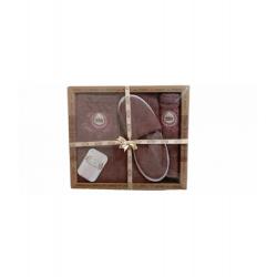 Мужской комплект для бани Purry (юбка, полотенце 50*90, тапочки) коричневый (ts-02727)