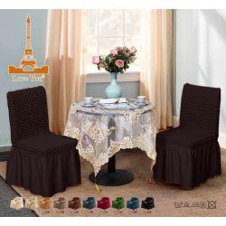 """Чехлы для мебели (стулья 2 шт) """"Love you"""" черный шоколад (38)"""