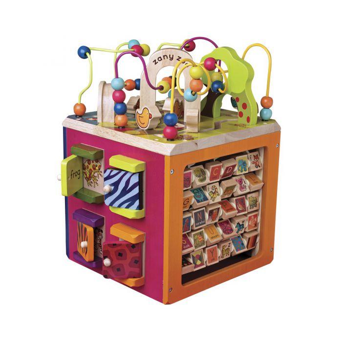 Развивающая деревянная игрушка Battat - ЗОО-КУБ  BX1004X