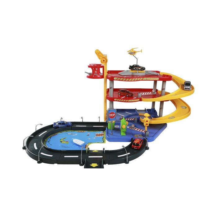 Игровой набор Bburago- ГАРАЖ (3 уровня, 2 машинки 1:43) 18-30025