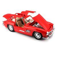 Автомодель Bburago- MERCEDES-BENZ 300 SL (1954) (ассорти красный, серебристый, 1:24) 18-22023
