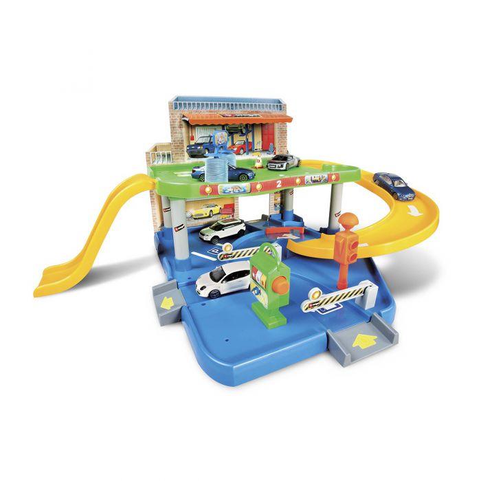 Игровой набор Bburago- ГАРАЖ (2 уровня, 1 машинка 1:43)  18-30039