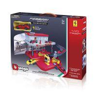 Игровой набор Bburago - ГАРАЖ FERRARI (2 уровня, 1 машинка 1:43)  18-31231