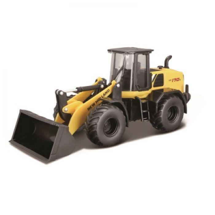 Автомодель Bburago серии Construction - ЭКСКАВАТОР NEW HOLLAND W170D  18-32083
