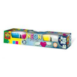 Незасыхающая масса для лепки SES Creative - Неон (00461S)