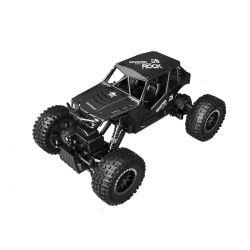 Автомобиль Sulong Toys Off-Road Crawler На Р/У – Tiger (Матовый Черный, Аккум. 4,8V, Метал. Корпус, 1:18) SL-111RHMBl