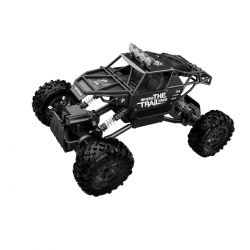 Автомобиль Sulong Toys Off-Road Crawler На Р/У – Where The Trail Ends (Матов.Черн., Аккум.7.2V, Мет.Корпус,1:14) SL-121RHMBl
