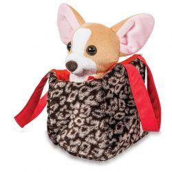 """Собачка чихуахуа коричневый с сумочкой в платье ТМ """"Tigres"""" ( СО-0102)"""