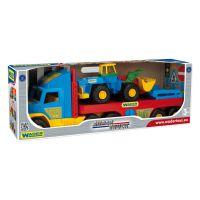 Машинка Super Truck с трактором Wader (36520)