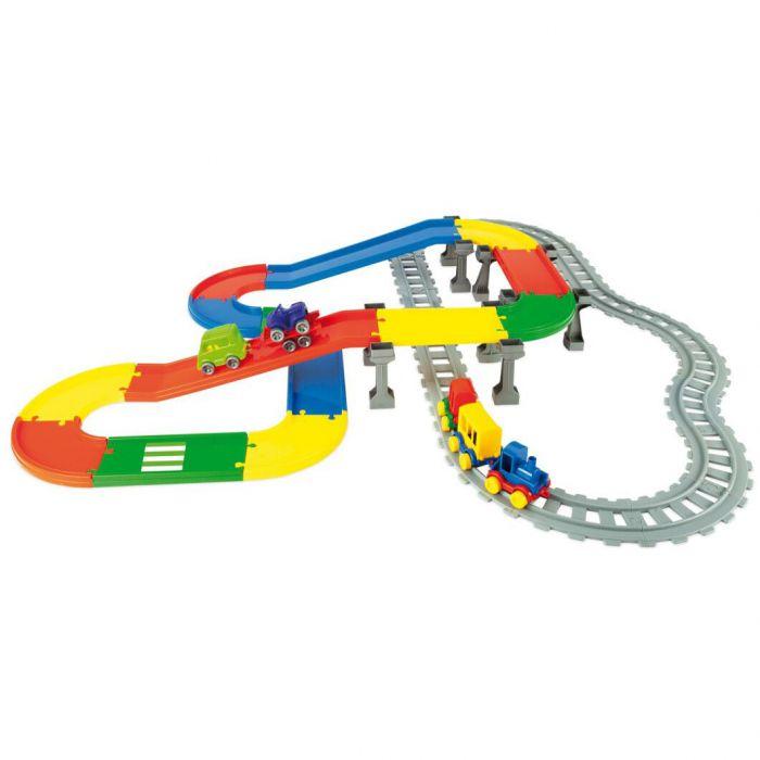 Игровой набор машинки Play Tracks город 6,3 м Wader (51510)