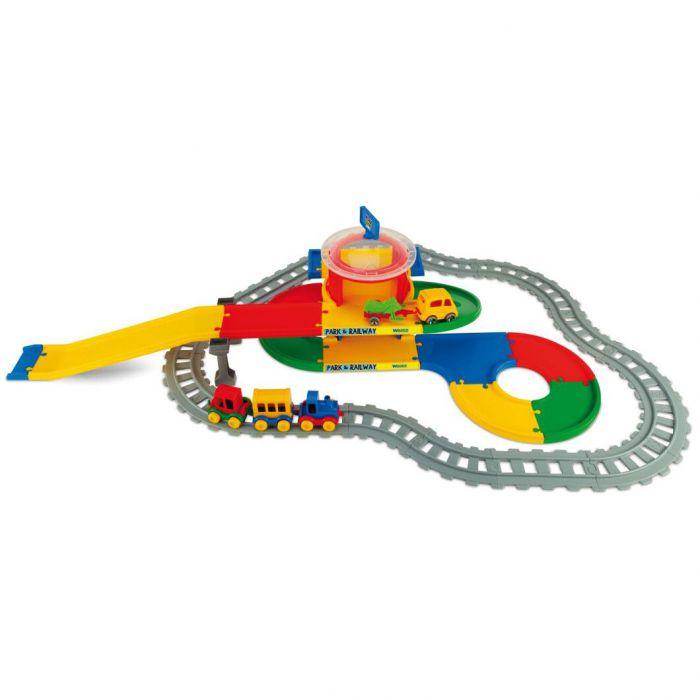 Игровой набор машинки Play Tracks вокзал 6,4 м Wader (51520)