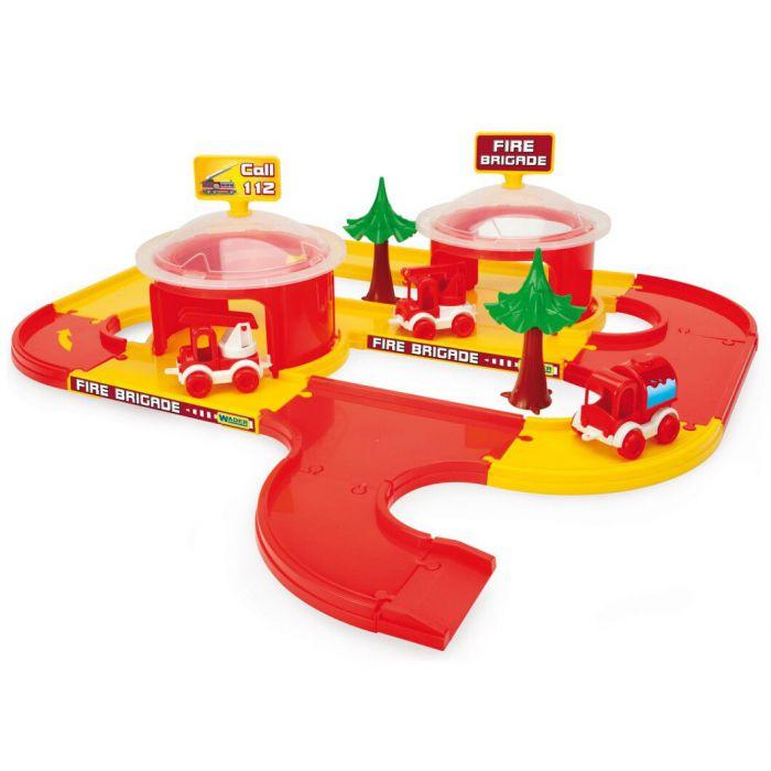 Игровой набор машинки Play Tracks City - набор пожарная Wader (53510)
