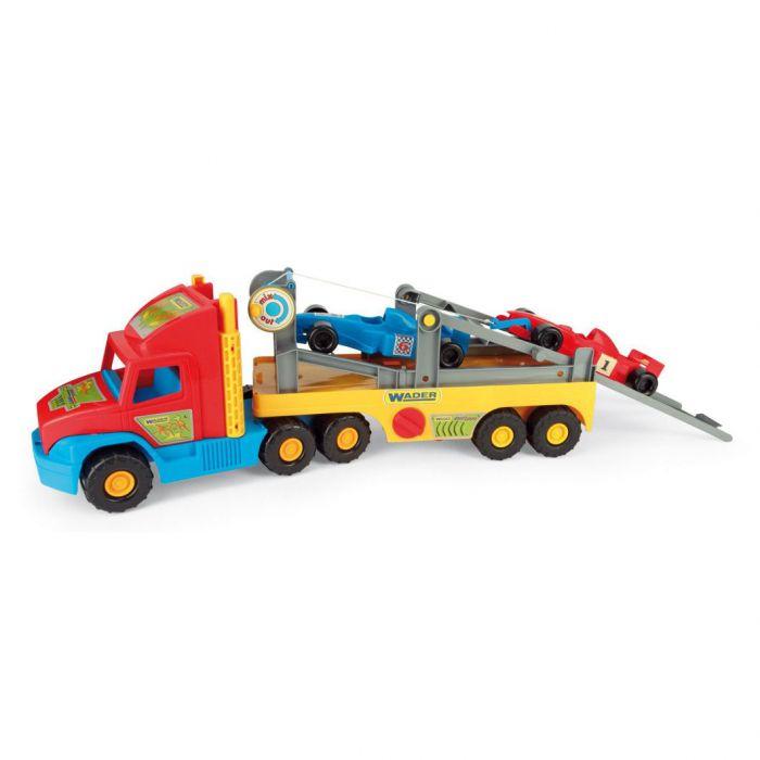 """Машинка Super Truck с авто """"Формула"""" Wader (36820)"""