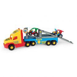Машинка Super Truck с легковыми авто Wader (36630)