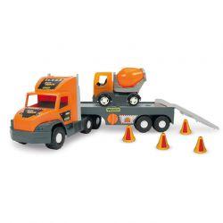 Машинка Super Tech Truck с строительными контейнерами Wader (36760)