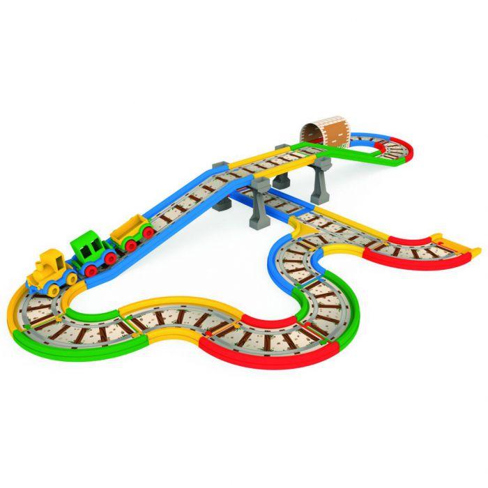 Игровой набор машинки Kid Cars Железная дорога 4,1 м