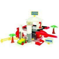Игровой набор машинки Гараж с лифтом 2 уровня Wader (50300)