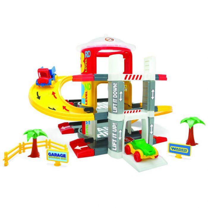 Игровой набор машинки Гараж с лифтом 3 уровня Wader (50310)