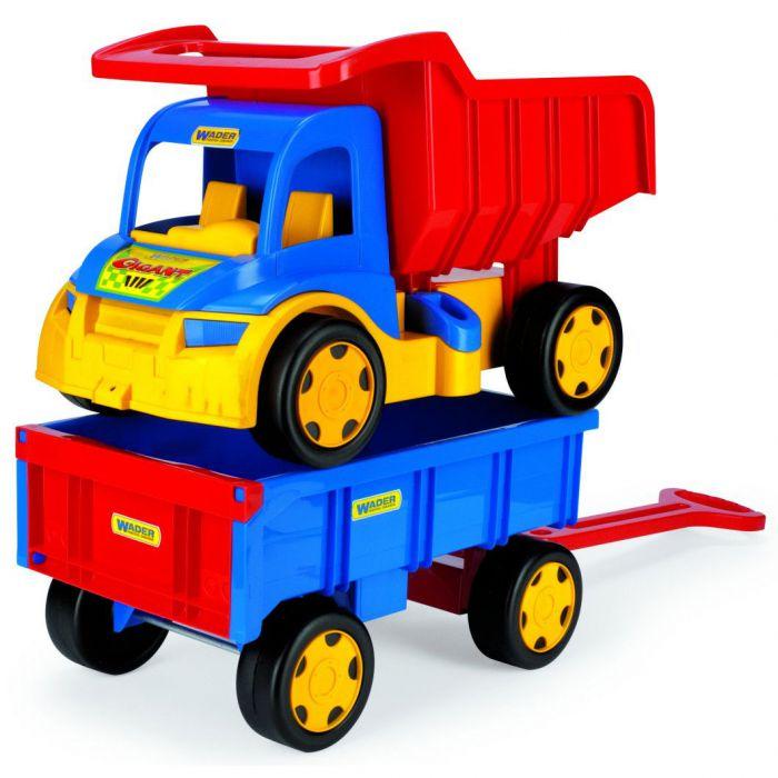 Машинка Грузовик Гигант + игрушка прицеп