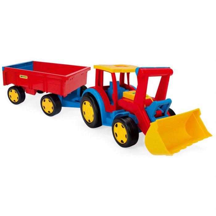 Трактор Гигант с прицепом и ковшом