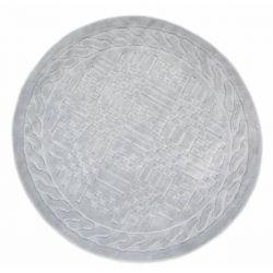 Коврик для ванной Arya Круглий 120 см Berceste Серый (1380026)