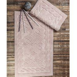 Набор ковриков Zugo Home Asos Pudra 50x60+60x100 см пудра (8698485570501)