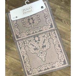 Набор ковриков Zugo Home Mercan Pudra 50x60+60x100 см (8698485570594)