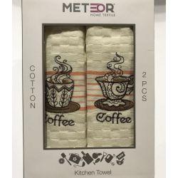 Набор кухонных полотенец Meteor Coffee V01 40*60 2 шт (ts-01436)