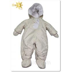 """Детский комбинезон-трансформер для новорожденных зимний с отстегивающим мехом """"Friends"""" GRETA LUX"""