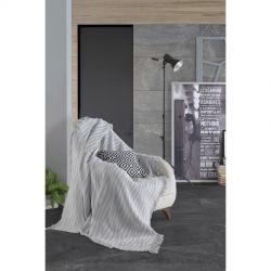 Плед-накидка Eponj Home Buldan Keten - Verda 170*220 gri серый (svt-2000022282369)