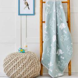 Детский плед в кроватку Karaca Home - Geometric Elephant 100*120 (svt-2000022268110)