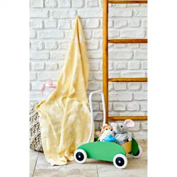 Детское покрывало пике Karaca Home - Baby star sari желтый 80*120 (svt-2000022253772)