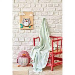 Детское покрывало пике Karaca Home - Baby star yesil зеленый 80*120 (svt-2000022253789)