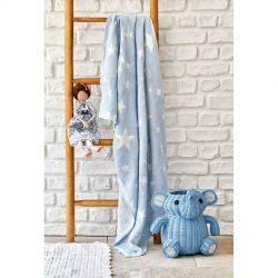Детское покрывало пике Karaca Home - Baby star mavi синий 80*120 (svt-2000022253796)