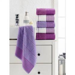 Набор полотенец Eponj Home - Vorteks 50*85 (6 шт) fitilli lila лиловый (svt-2000022282079)