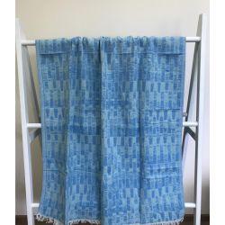 Пляжное полотенце Gold Soft Life pestemal Virtu 100*180 голубой (ts-02311)