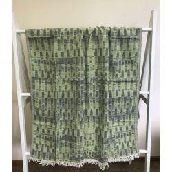 Пляжное полотенце Gold Soft Life pestemal Virtu 100*180 зеленый (ts-02310)