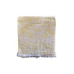 Пляжное полотенце Gold Soft Life pestemal Milos 100*180 желтый (ts-02733)