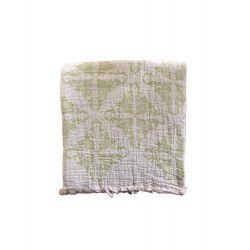 Пляжное полотенце Gold Soft Life pestemal Flower 100*180 зеленый (ts-02734)
