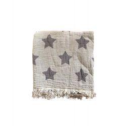 Пляжное полотенце Gold Soft Life pestemal Star 100*180 серый (ts-02737)